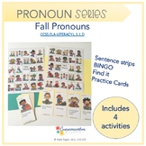 Fall Pronouns (activities for speech therapy)