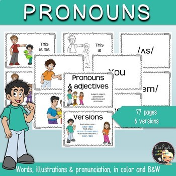 Pronouns Flashcards and Posters