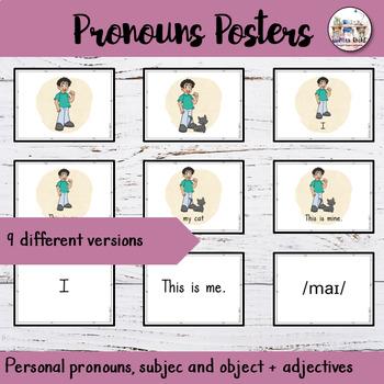 Grammar Pronouns Posters