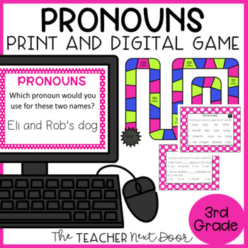 Pronouns Game | Pronouns Center | Pronoun Activities