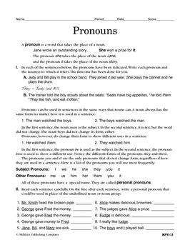 Pronouns (CCSS L.6.1a)