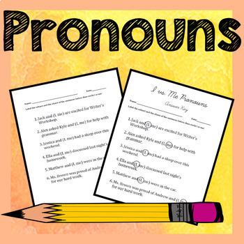 Pronouns Activities - I vs. Me, Intensive, Subject vs. Object, Pronoun Shifts