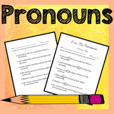 Pronouns Activities - I vs. Me, Intensive, Subject vs. Obj