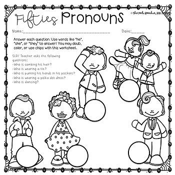 Pronouns Speech Therapy | Subjective Pronouns | Possessive Pronouns