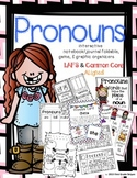 Pronouns Graphic Organizers with Anchor Chart Poster/Sign, Foldable, & Game