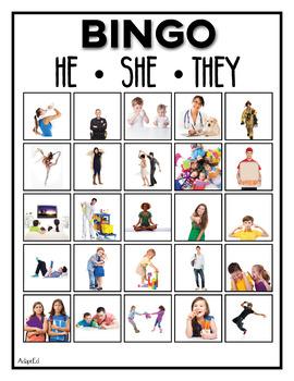 Pronouns He She They BINGO