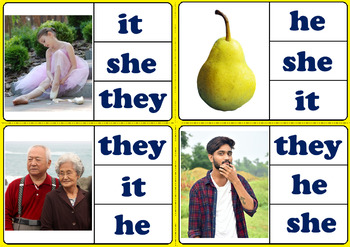Pronouns He She They It