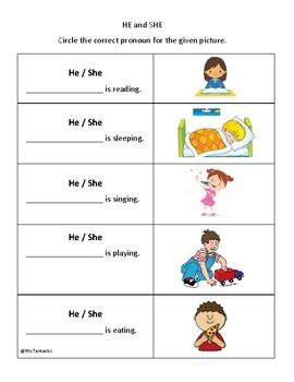 Pronouns: He and She