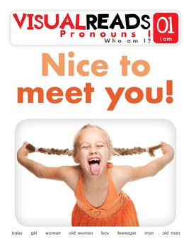 Pronouns I. 01 I am (people). Reading Book+Workbook+Flashcards