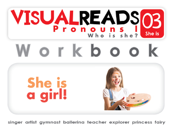 Pronouns I. 03 She is (people). Reading Book+Workbook+Flashcards