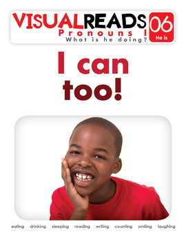 Pronouns I. 06 He is (actions). Reading Book+Workbook+Flashcards