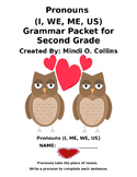 Pronouns (I, Me, We, Us) Grammar Packet for Second Grade