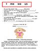 Pronouns (I, Me, We, Us) Grammar Packet for Second Grade