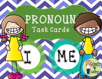Pronouns - I an Me Task Cards/ Scoot