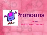 Pronouns I and me Usage Powerpoint