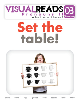 Pronouns II. 03 These are (the kitchen). Reading Book+Workbook+Flashcards