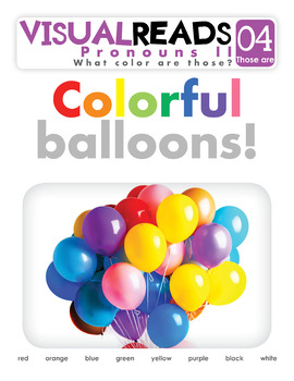 Pronouns II. 04 Those are (colors). Reading Book+Workbook+Flashcards