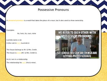 Pronouns! - Instructional PowerPoint