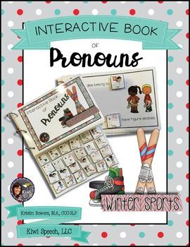 Pronouns Interactive Book {WINTER SPORTS}
