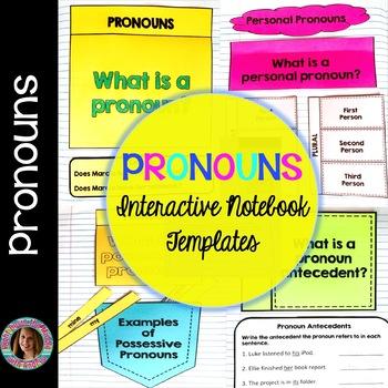 Pronouns Interactive Notebook Templates