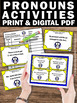 Subject and Object Pronouns Task Cards for Literacy Center