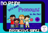 Distance Learning Teletherapy - Pronouns - NO PRINT Intera