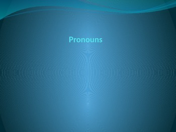Pronouns PPT