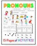 Pronouns Packet (subject pronouns, object pronouns, possessive pronouns)