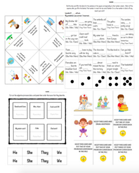 Pronouns Packet (subject pronouns, object pronouns, possessive pronouns)