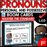 Pronouns | Personal and Possessive  | L.1.1.D | BOOM CARDS