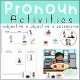 Pronouns Activities for Subjective, Objective, and Possessive Pronouns