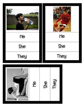 Pronouns Photo Task Cards