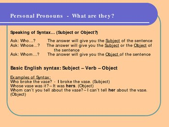 Pronouns - Piece of Cake (Grammar and Syntax) pps,174 KB, 8 pages