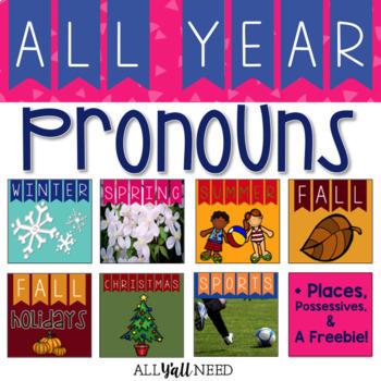 Pronouns, Places, & Possessives - All-Year Bundle