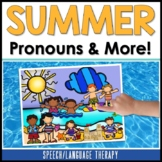 Speech Therapy Summer Pronouns, Spatial Concepts, & Possessive /s/