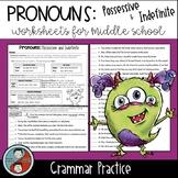 Pronouns: Possessive and Indefinite - Grammar Worksheets