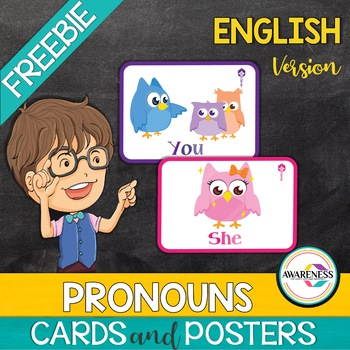 Subject Pronouns Flashcards and Posters - Free