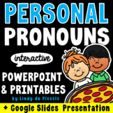 Pronouns PowerPoint / Google Slides, Worksheets, Posters, & More!