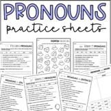 Pronouns Practice Activity Sheets