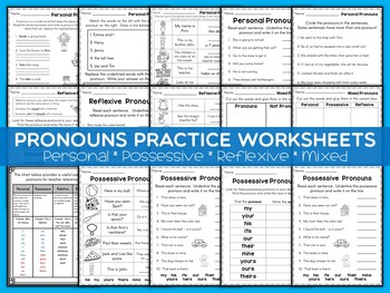 Pronouns Practice Worksheets | Parts of Speech