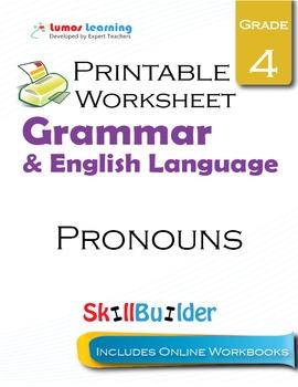 Pronouns Printable Worksheet, Grade 4
