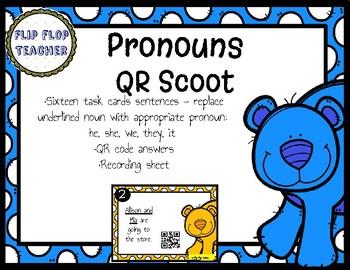 Pronouns QR Scoot