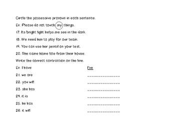 Pronouns Review Part One