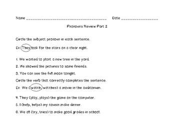 Pronouns Review Part Two