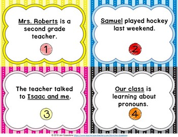 Pronouns Grammar SCOOT or Task Cards