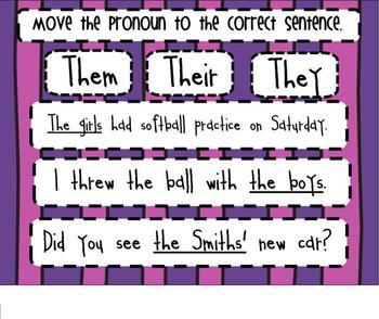 Pronouns SMARTBoard Senteo Lesson