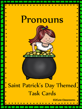 Pronouns: Saint Patrick's Day Themed Task Cards