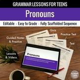 Pronouns Unit: Grammar Lesson, Quiz, Test, & More