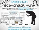 Pronouns Scavenger Hunt Activity Pack