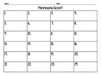 Pronouns Scoot